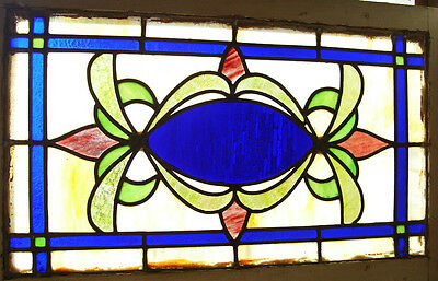 "STAINED GLASS Window - ANTIQUE - Raised florets - ""Flowers in the Sky""  (SG869)"
