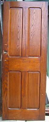 DOOR - Antique - for Passage - Victorian oak panel door   (D 58)