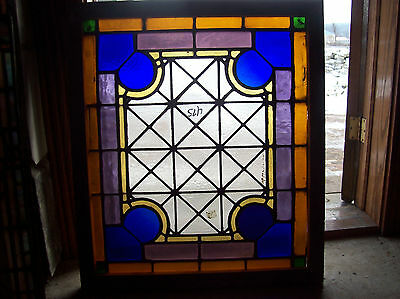 Textured Stained Glass Window Very Geometrical (SG )