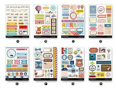 Taiwan Travel Time Masking Stickers For Scrap-booking DIY Diary Album Decoration