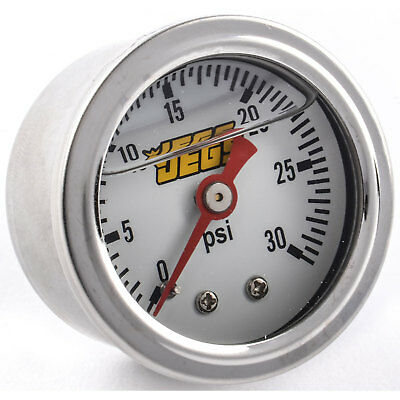 JEGS Performance Products 41041 Fuel Pressure Gauge 0-30 psi White Dial