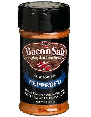 Peppered Bacon Salt J&d Low Sodium Flavored Seasoning Bacon & Pepper Flavor