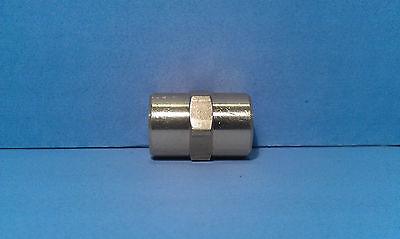 Solid Brass Hex Pipe Coupling 1/4 Inch Female NPT Air Fuel Gas Water