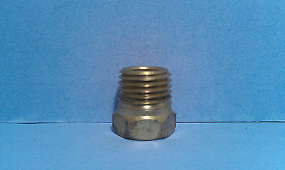 Brass Adapter Bushing Pipe Reducer 1/8 FNPT with 1/4 MNPT Air Fuel Gas Water