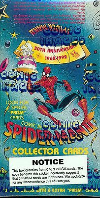 1993 COMIC IMAGES SPIDERMAN 30TH ANNIVERSARY F/S WAX BOX COLLECTOR CARDS 48 CT