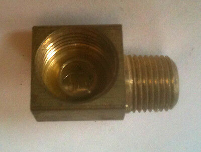 "90 Degree Brass 1/8-27"" NPT Male to 3/16"" I.F. 3/8-24 thread BE125187IF @Speedy"