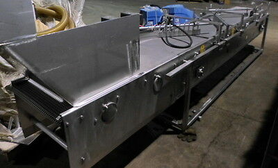 """Orienting Conveyor Overall 13' Long 20"""" Acetyl Belt Conveyor with Diverting Arms"""