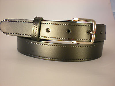 Children's real leather belts in black
