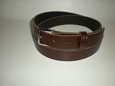 Children's real leather belts in rich brown