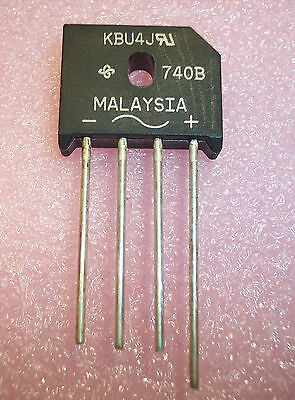 Qty (5)  Kbu4J Bridge Rectifier 4A 600V Low Profile General Semi
