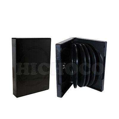 10 ct Multi 10 Disc CD DVD Black Case with Outter Sleeve Movie Game Box 33mm