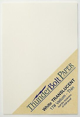 100 Sheets White Translucent Vellum Paper for Photo & Invitation Tissue 17# 4X6