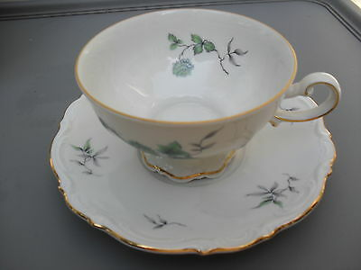 "MITTERTEICH -- BAVARIA --""GREEN MING""-- FOOTED CUP & SAUCER"