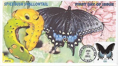 Jvc Cachets - 2013 Spicebush Swallowtail Butterfly Issue First Day Cover Fdc #2