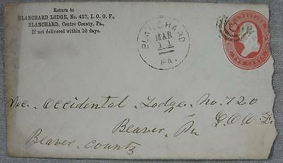 1880's Blanchard, PA Lodge 427 IOOF Stamp & Cover