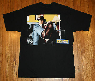 Trace Adkins Country Western Singer Black T-Shirt XL 100% Cotton No Fading