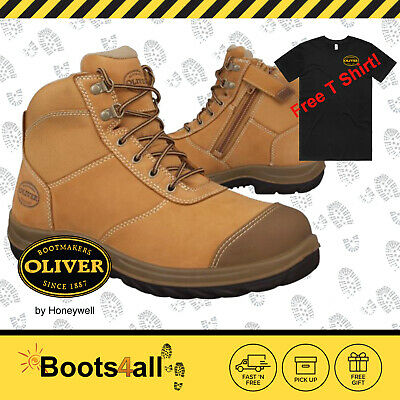 Oliver Mens Work Boots ZIP Safety Steel Toe Lace Up 34662 New FREE Express Post