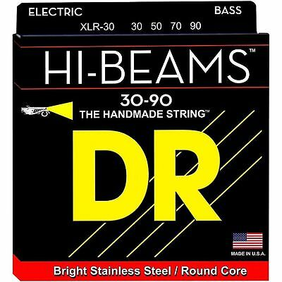 DR XLR-30 HI-BEAM STAINLESS STEEL BASS STRINGS, EXTRA LIGHT GAUGE 4's - 30-90