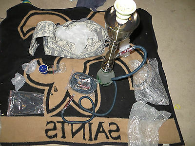 Hand Made 2 Hose Green  Hookah with extra pieces