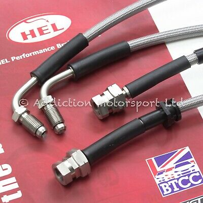 Vw Golf Mk5 Front Hel Performance Braided Brake Lines To Porsche Brembo Calipers