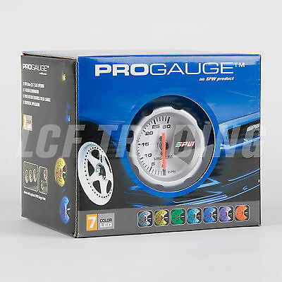 SPW PROGAUGE 7 Color LED Vacuum Pressure Gauge Push Button for 52mm hole
