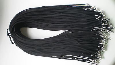 Wholesale Bulk 10 pcs black Suede Leather String 20inch Necklace Cords Chain