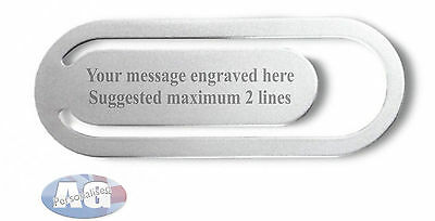 Personalized Engraved Bookmark Personalised Engraved Gift