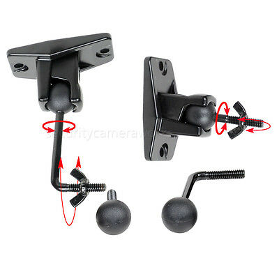 Universal Wall Ceiling Satellite Speaker Mount Bracket 1 pair Black fit BOSE BJM