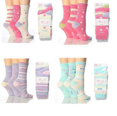 6 Pair Pack Girls Young Elle Cotton Ankle Socks. 4 Colours, All Sizes