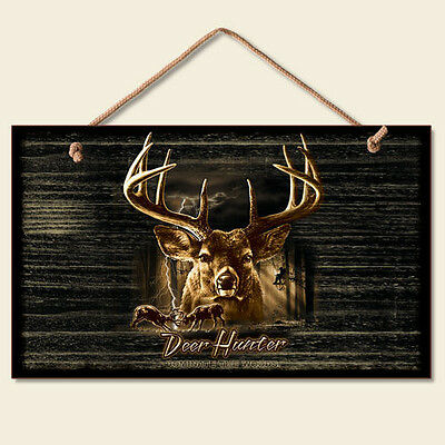 New Deer Buck Hunter  Deer Hunter Plaque Sign Rectangle