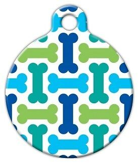 COOL BONES - Custom Personalized Pet ID Tag for Dog and Cat Collars