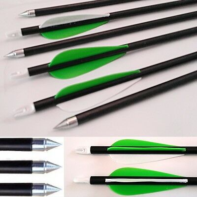 "32"" to 24""  Fibreglass Archery arrows compound or Recurve in variety of colours"