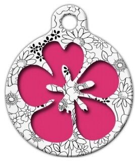 FLOWER POWER - Custom Personalized Pet ID Tag for Dog and Cat Collars