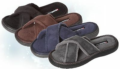 WHOLESALE Lot OF 36 prs Boys Open Toe Double Cross House Slipper, Colors & Sizes