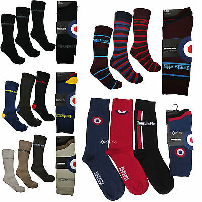 3 Pairs Lambretta Target Designer Cotton Rich Socks Shoe Size 6-11