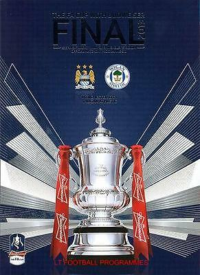 * MANCHESTER CITY v WIGAN ATHLETIC 2013 FA CUP FINAL PROGRAMME *
