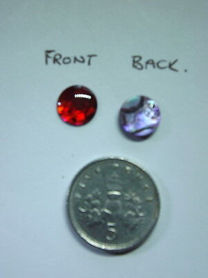 1 x Red 8 mm Paua Abalone Shell Round Precious Cabochon Cabachone Jewellery