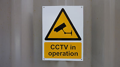 CCTV In Operation 200x150mm Plastic Security Sign With/Without Holes Or Sticker