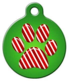 PEPPERMINT PAWS - Custom Personalized Pet ID Tag for Dog and Cat Collars