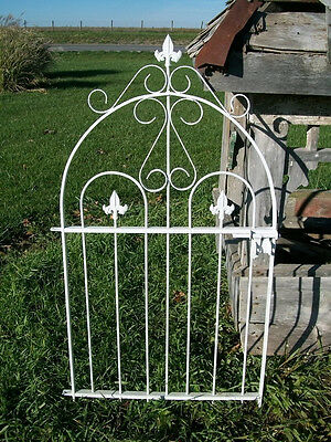 "Handmade 37"" Tall Solid Steel Historical Style Gate, Works will with small fence"