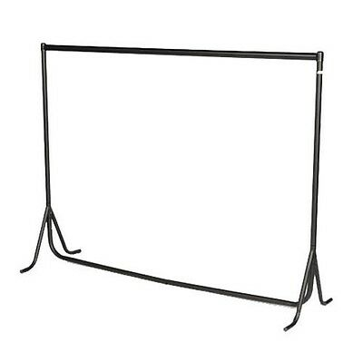 3ft|4ft|5ft|6ft x 6ft High HEAVY DUTY RAIL Clothes Garment Hanging Display Stand
