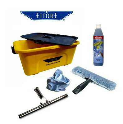 Ettore Window Cleaning Set - Includes Bucket With Lid