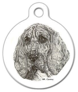 BLOODHOUND - Custom Personalized Pet ID Tag for Dog and Cat Collars