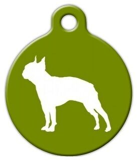 BOSTON TERRIER - Custom Personalized Pet ID Tag for Dog and Cat Collars