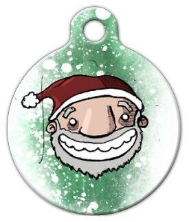 SANTA CLAUS - Custom Personalized Pet ID Tag for Dog and Cat Collars