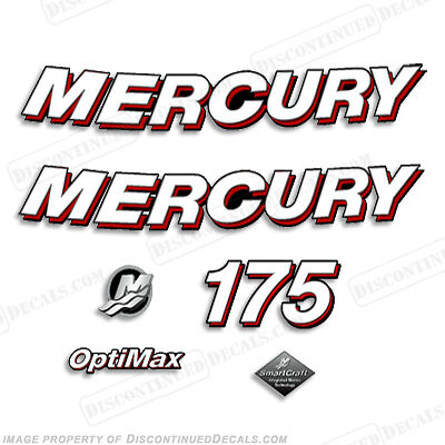Mercury 2006 175hp Optimax Decal Kit - Discontinued Decals for Outboard Engines