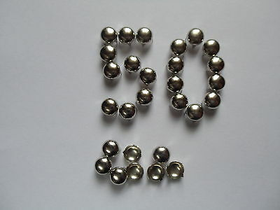 5mm SILVER ROUND CONE STUDS RIVETS