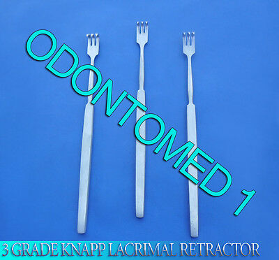 3 O.r Grade Knapp Lacrimal Retractor 3 Prongs Sharp Ophthalmic Instrument