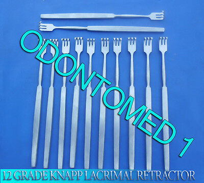 12 O.r Grade Knapp Lacrimal Retractor 3 Prongs Sharp Ophthalmic Instrument