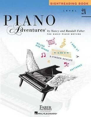 NEW Level 2a - Sightreading Book: Piano Adventures by Nancy Faber Paperback Book